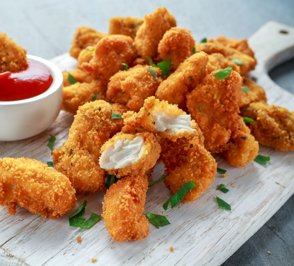Nuggets aus frischem Hähnchenfleisch